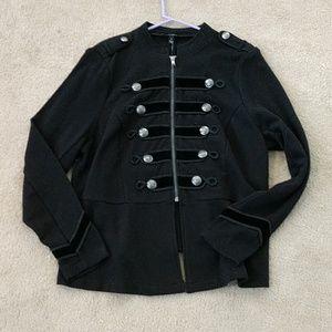 Torrid Black Zip Front Military Jacket size 1